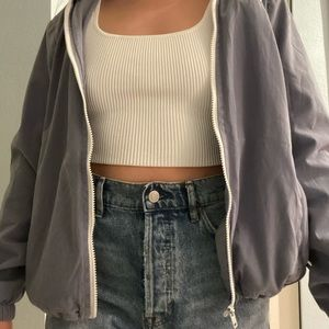 Blue Brandy Melville Zip Up Jacket